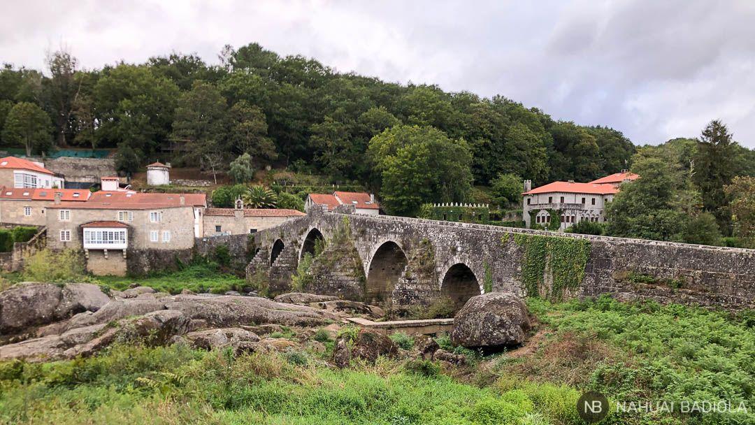 Panoramica de Ponte Maceira, camino desde Santiago a Finisterre