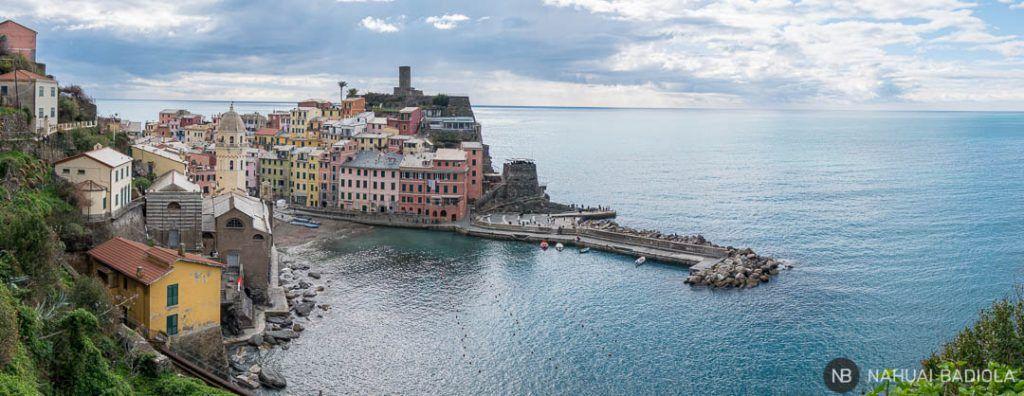 Vista panoramica Vernazza, 5 terre