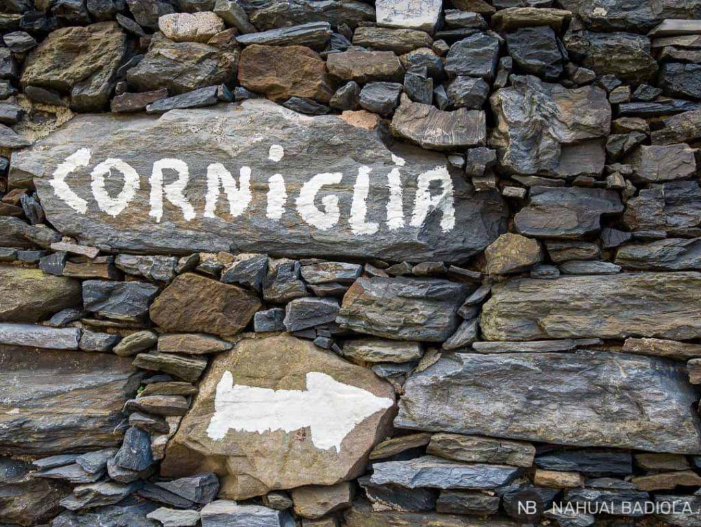 Comienzo del sendero desde Vernazza hasta Corniglia