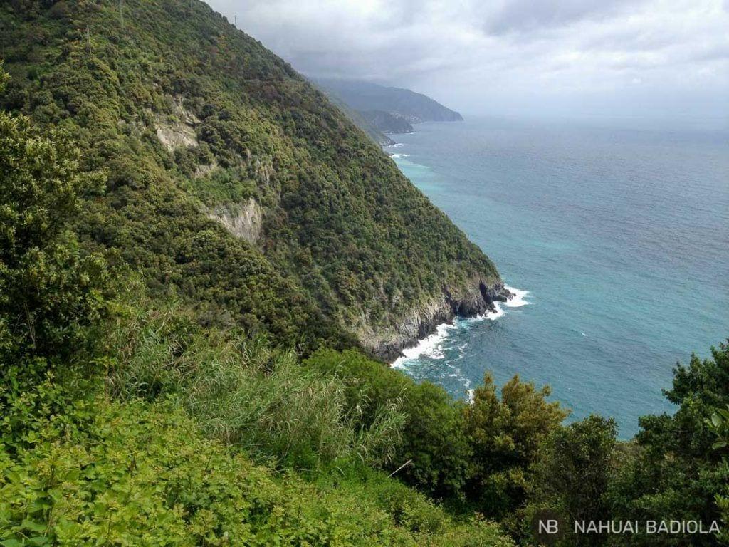 Costa Cinque Terre desde el sendero de Vernazza a Monterosso