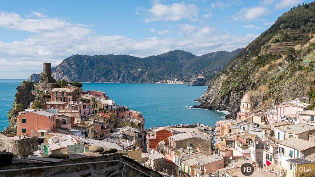 Torre de Vernazza desde sendero azul