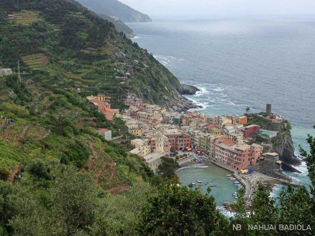 Vernazza desde el sendero a Monterosso, 5 Terre