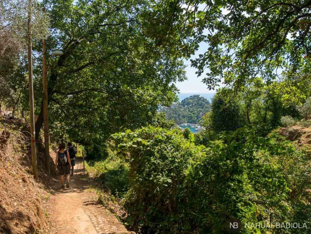 Camino de tierra a Portofino