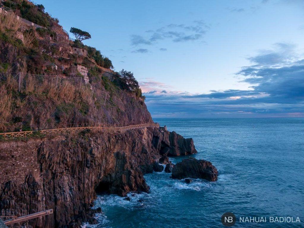 Sendero de costa en Riomaggiore