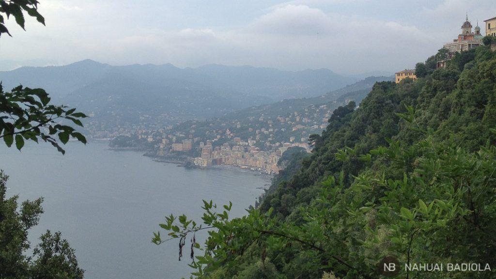 Vista de Camogli desde San Rocco