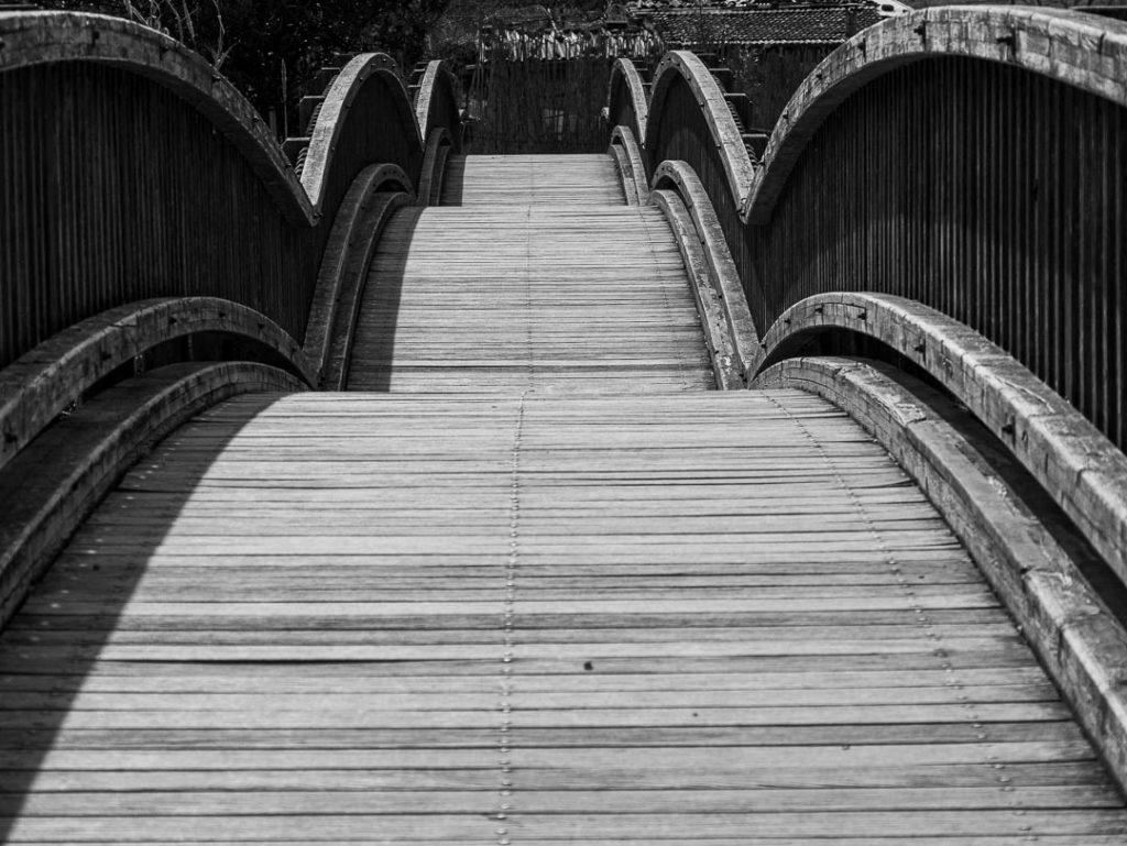 Puente de arcos de madera, Castellfollit, La Garrotxa
