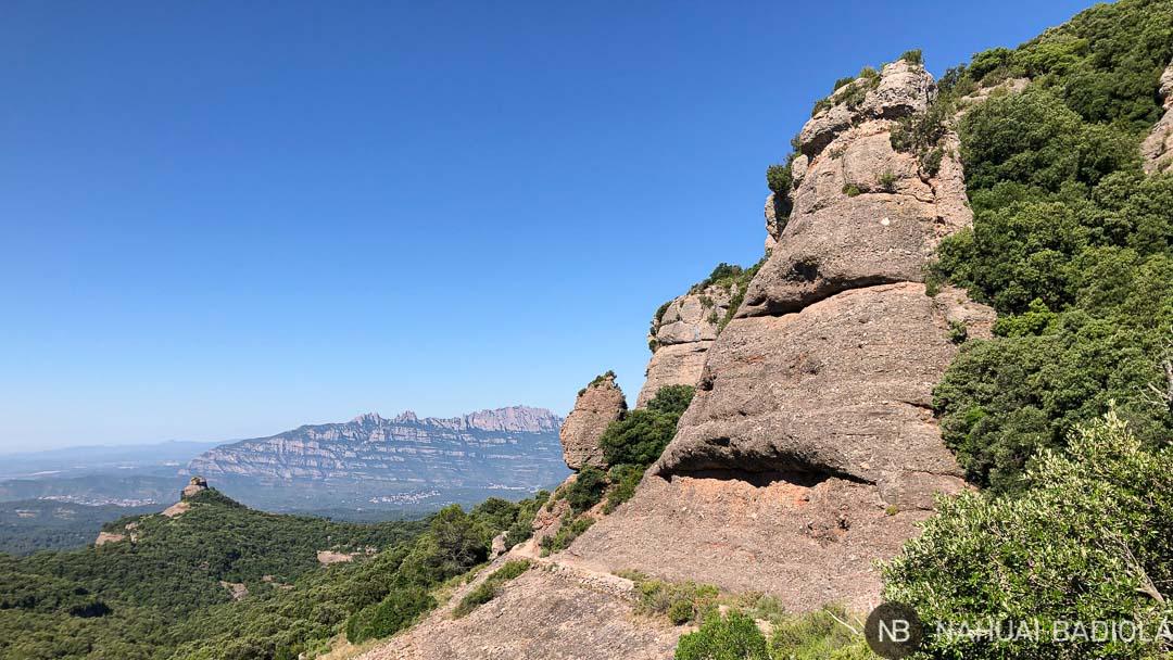 Vistas de Montserrat camino de la font de Pola