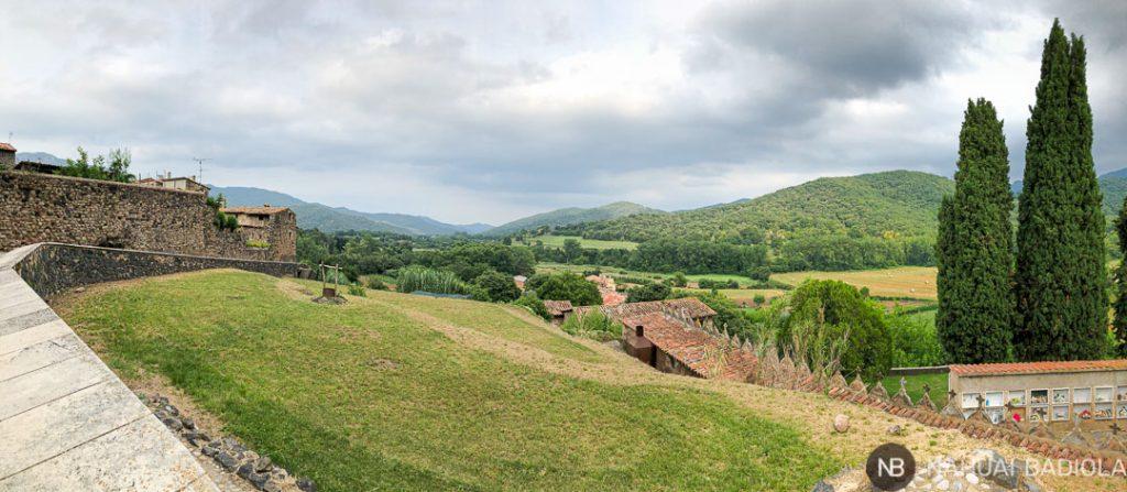 Panorámica desde Santa Pau, la Garrotxa