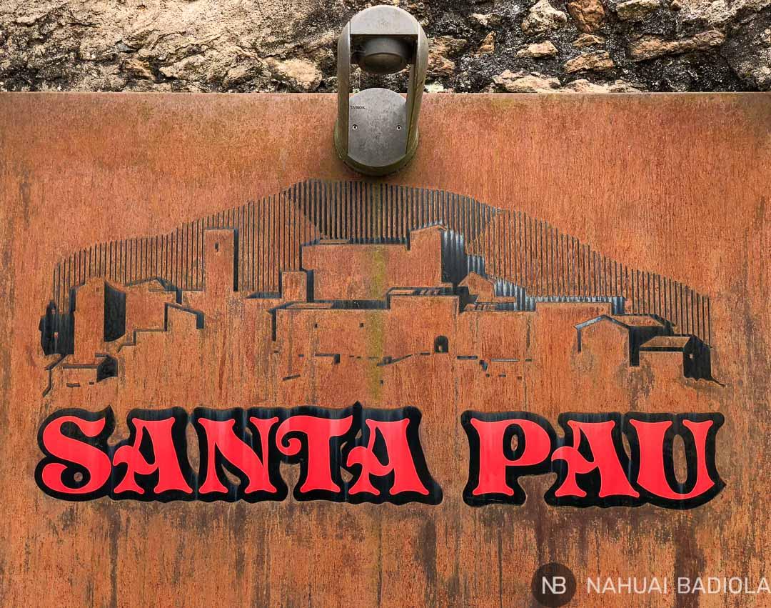 Perfil de Santa Pau, la Garrotxa