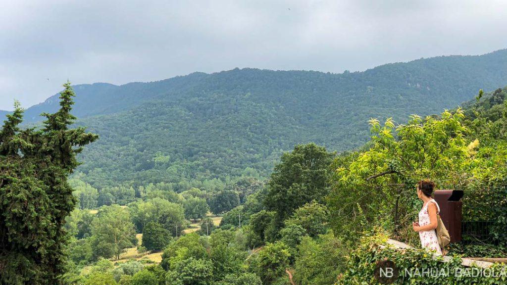 Vistas a la Garrotxa desde Santa Pau