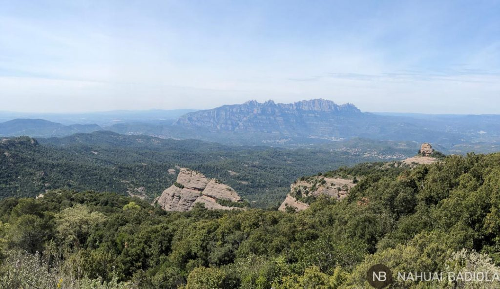 Vistas de Montserrat en segundo plano tras Paller de Tot lAny